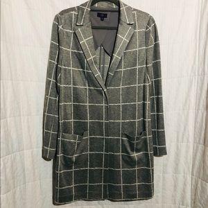 Gray NYDJ duster blazer
